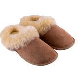Unisex Irish Sheepskin Loafer with wool Trim