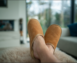 Unisex Irish Sheepskin Loafer Slippers with Soft Sole