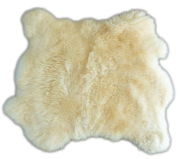 Double Sheepskin Rug/Throw - Side by side