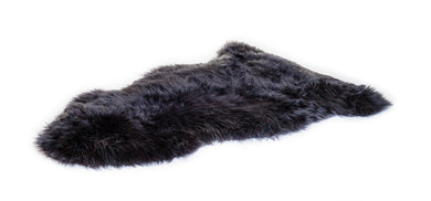 Irish Sheepskin rug black
