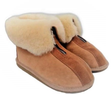 Medical Healthcare Sheepskin slippers with zip