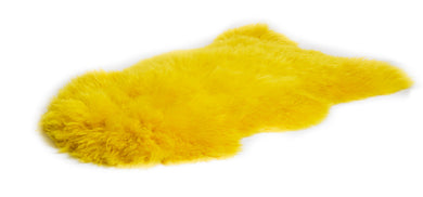Irish Sheepskin Rug - Yellow