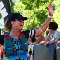 ANGELA CONQUERED THE OPEN WATER SWIM AT IM 70.3 MUNCIE