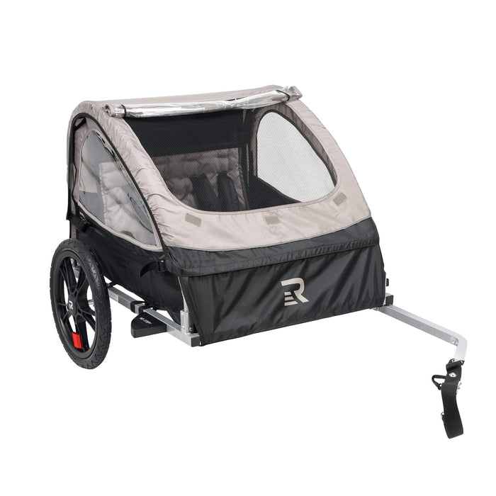 Retrospec Rover Double Passenger Children's Bike Trailer - Slate