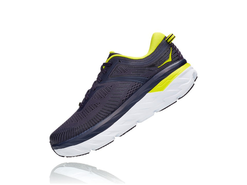 Hoka One One Men's Bondi 7 - Odyssey Grey/Deep Well