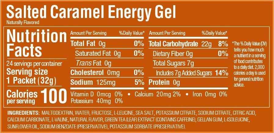 GU Energy Gel Box of 24 - Salted Caramel