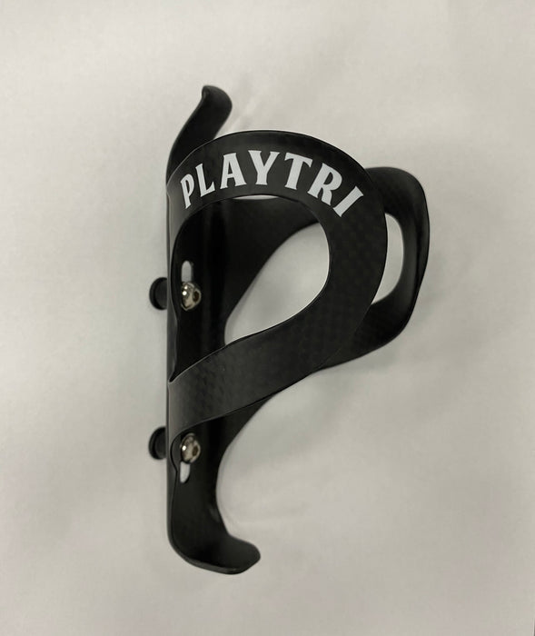 Playtri Carbon Water Bottle Cage Black