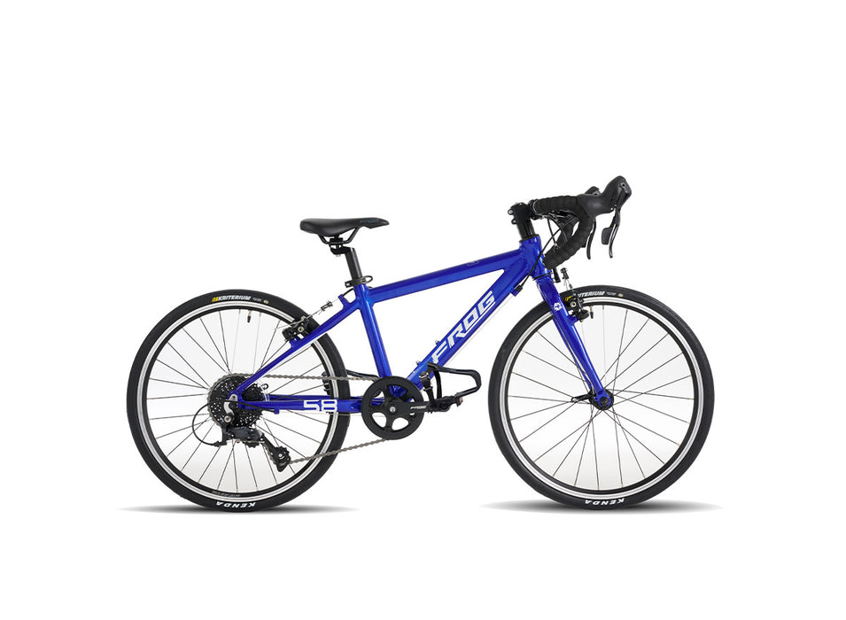 "Frog 58 20"" Kids Road Bike - Electric Blue 2020"
