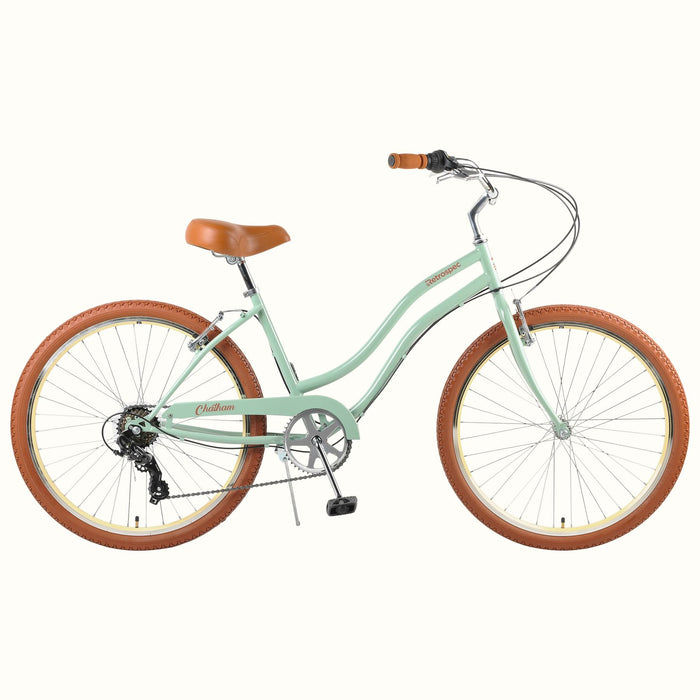 "Retrospec Chatham Beach Cruiser Step-Thru 7-Speed 26"" - Matcha Green 2021"