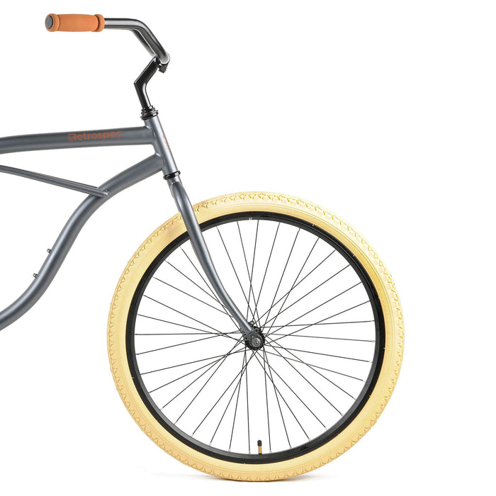 "Retrospec Chatham Beach Cruiser 1-Speed 29"" - Matte Graphite/Beige 2021"