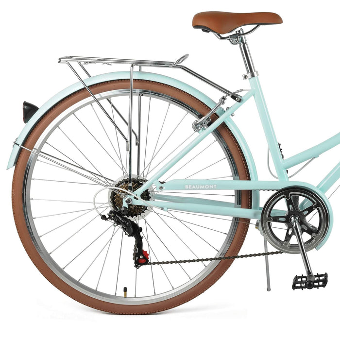 Retrospec Beaumont 7-Speed Step-Thru City Bike - Cool Mint 2021