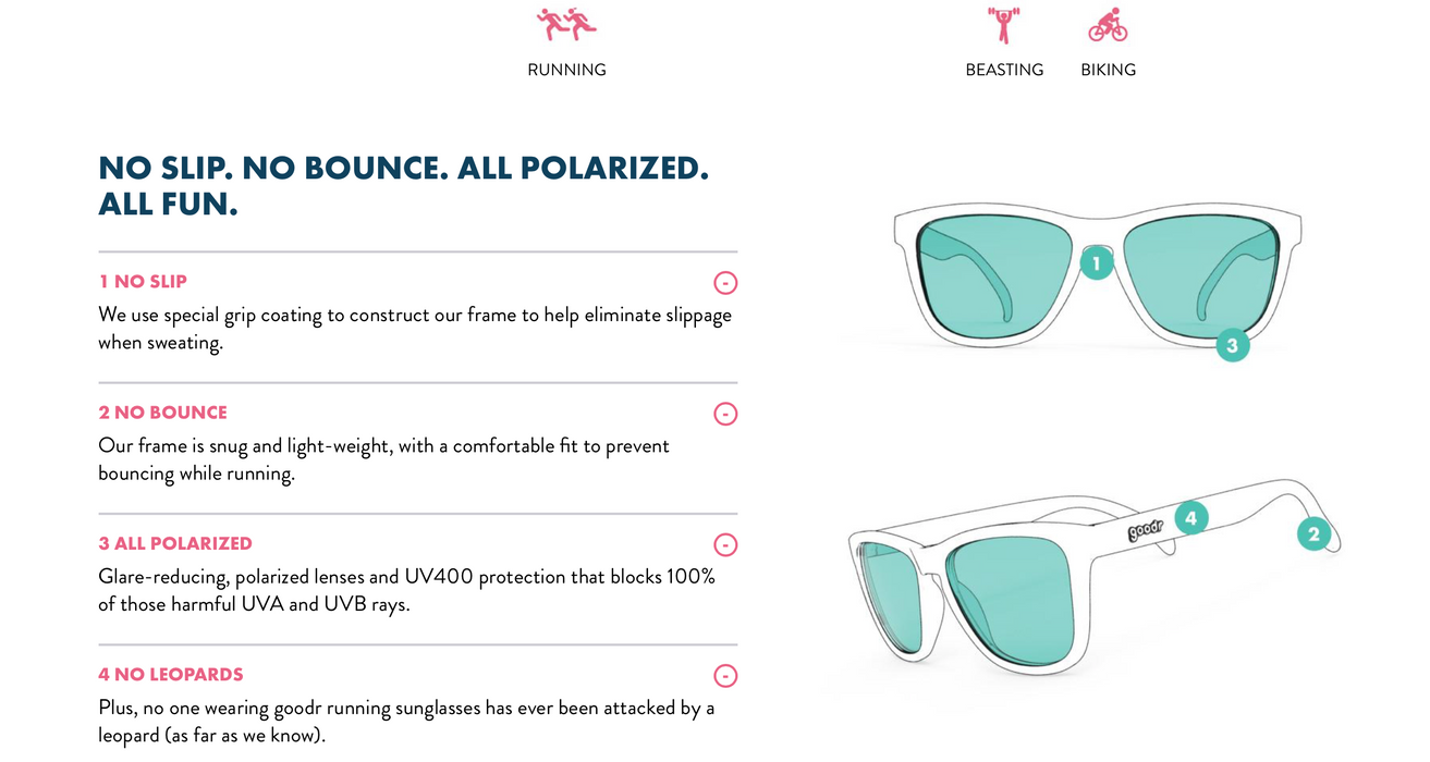 Goodr Sunglasses - Falkor's Fever Dream