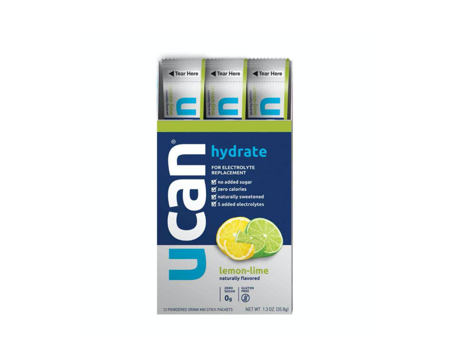 UCAN Hydrate Electrolyte Box of 12 - Lemon Lime