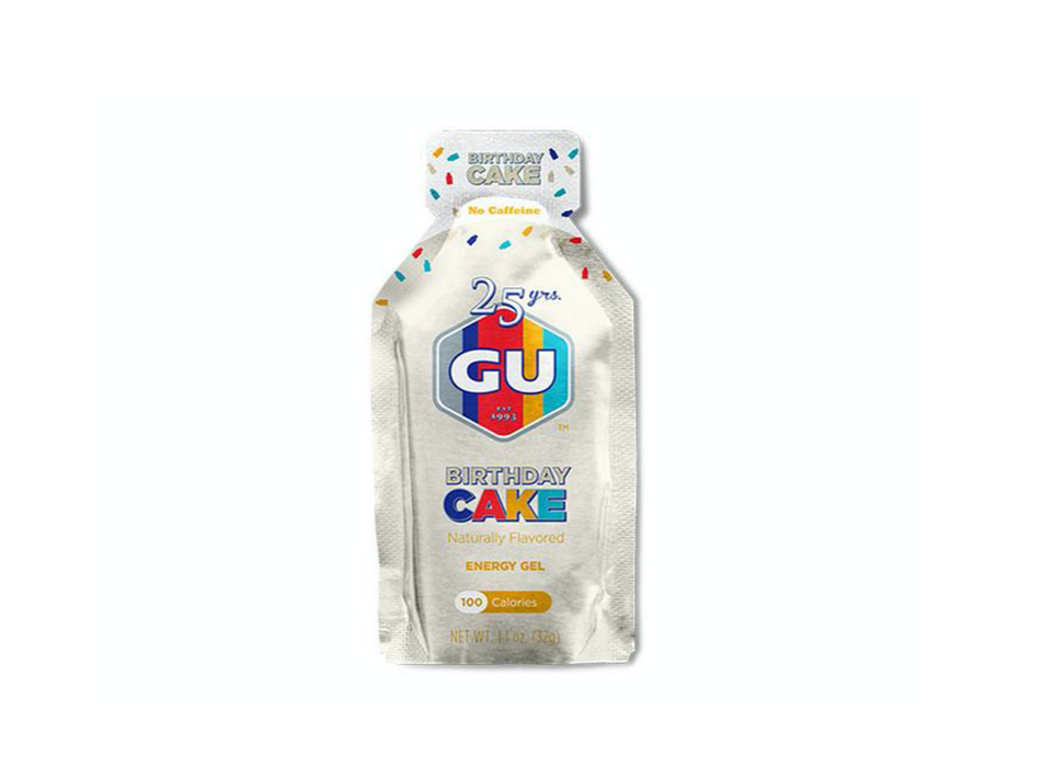 GU Energy Gel Box of 24 - Birthday Cake