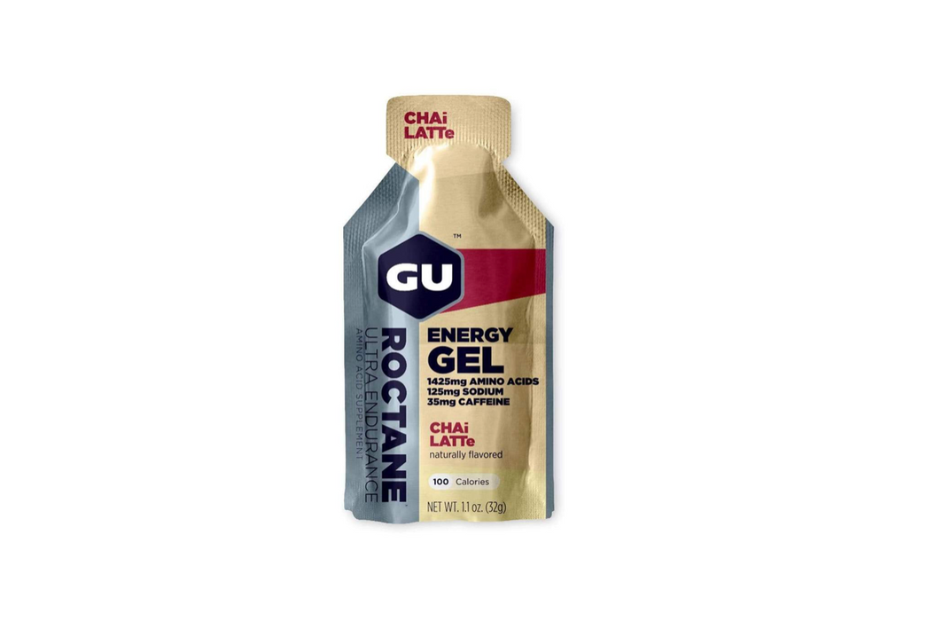 GU Energy Gel Box of 24 - Roctane Chai Latte