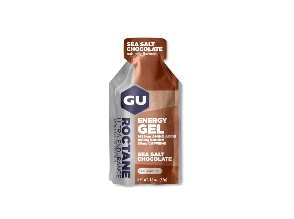 GU Energy Gel Box of 24 - Roctane Sea Salt Chocolate