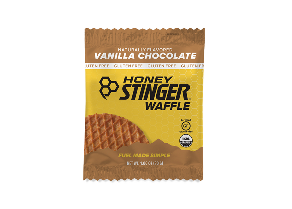 Honey Stinger Waffles Box of 16 - Vanilla Chocolate Gluten-Free