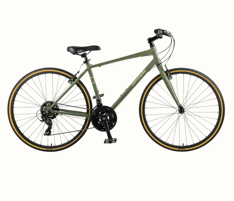Retrospec Atlas Comfort Hybrid Bike - Matte Forrest Green 2021