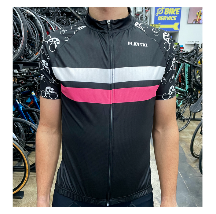 Playtri Unisex Cycling Jersey - Pink