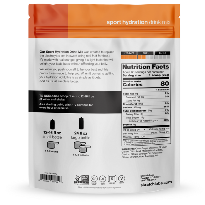 Skratch Labs Sport Hydration Mix 20 Servings - Oranges