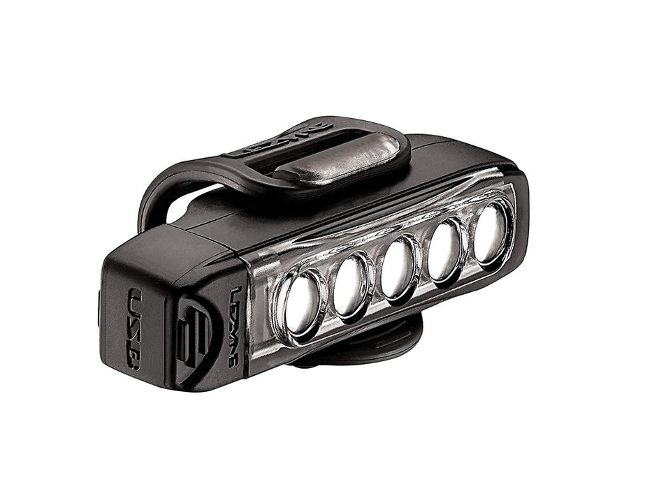 LEZYNE Strip Drive Front Bicycle LED Headlight, 400 Lumens, Black
