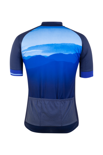 Sugoi Evolution ZAP Men's Cycling Jersey - Evolution Collection Azure Mountain