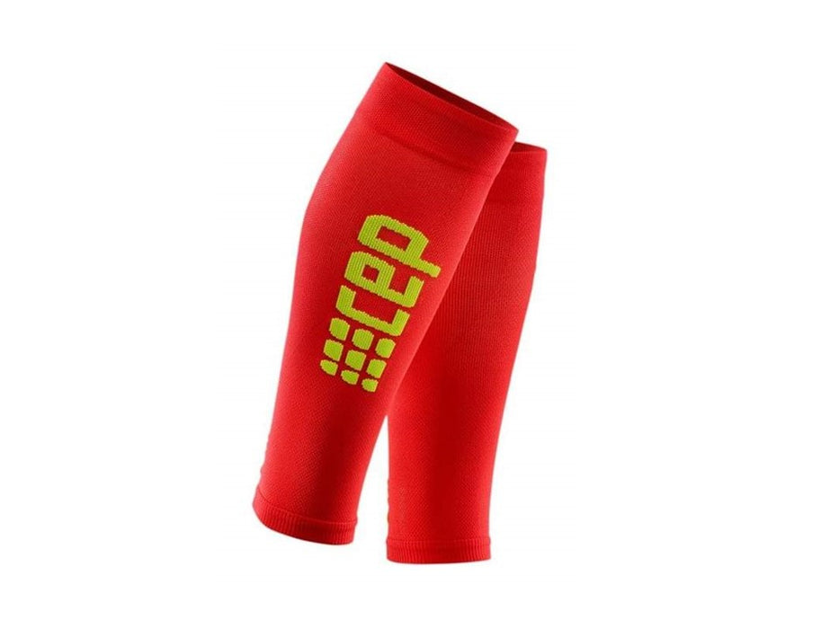 CEP Ultralight RUN+ Compression Sleeves (Red/Green)