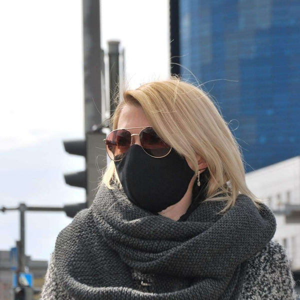 MUST - UNISEX NÄOMASK pestav (3 kihiline) - boliree, kohapealolemas, subcategory_mask