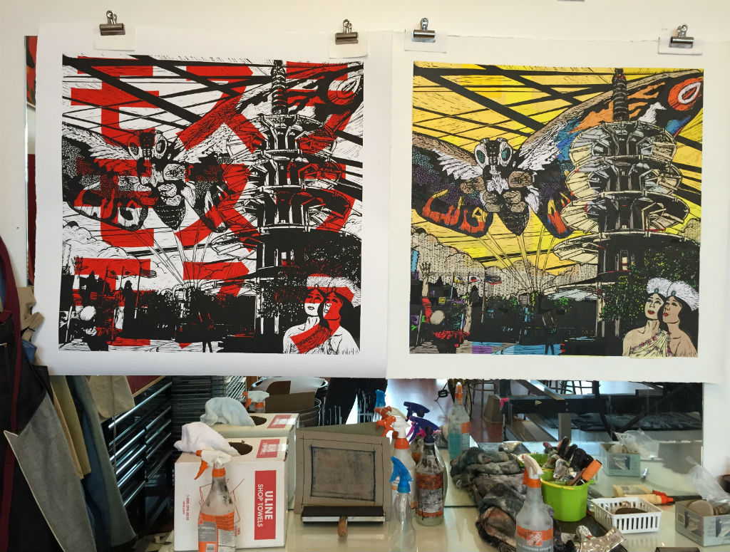goings-ons-mothra-katakana-text-relief-prints