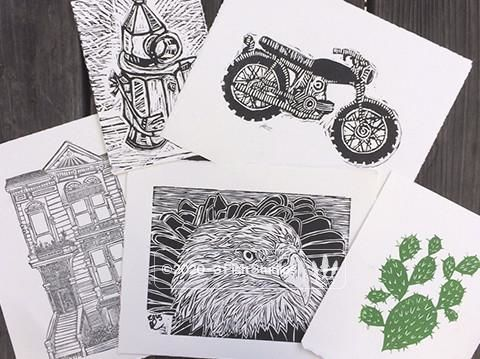 Relief Printmaking - Wednesday April 10th and 17th  6-9pm