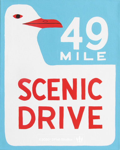 49 Mile Scenic Drive by Annie Galvin from 3 Fish Studios