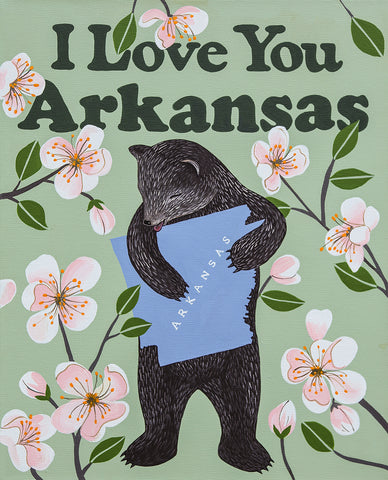 """I Love You Arkansas"" Print"