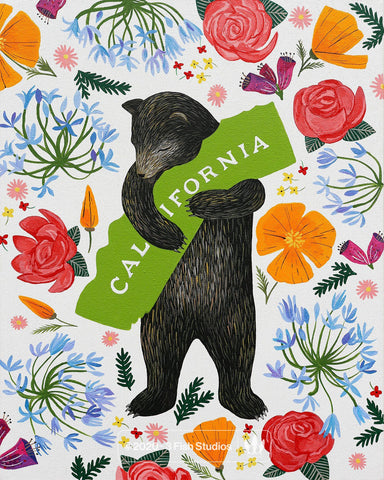 """I Love You California"" Botany Print by Annie Galvin 3 Fish Studios"