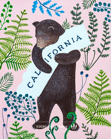"""I Love You California"" Fern Print"