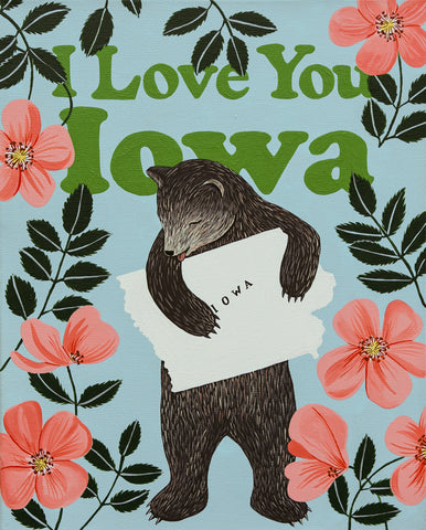 """I Love You Iowa"" Print"