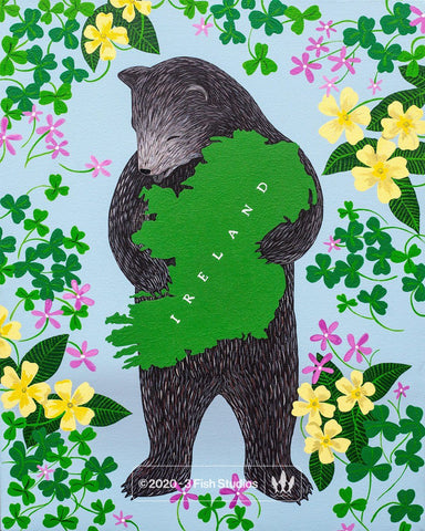 I Love You Ireland print by Annie Galvin 3 Fish Studios