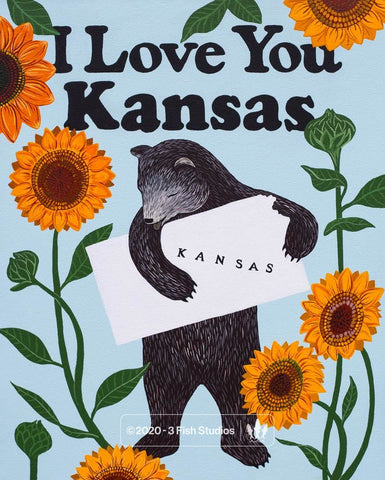 """I Love You Kansas"" Print"
