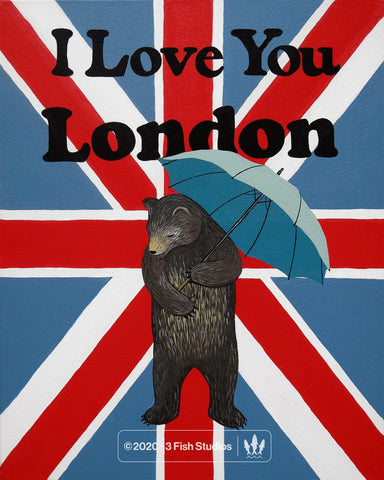 """I Love You London"" Print by Annie Galvin from 3 Fish Studios"