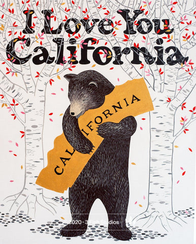 """I Love You California"" Meadow Print"