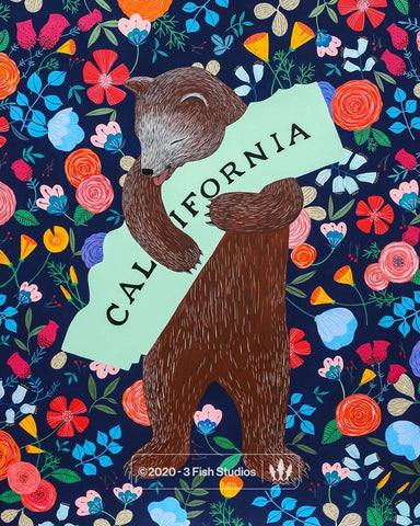 """I Love You California"" Midnight Print"