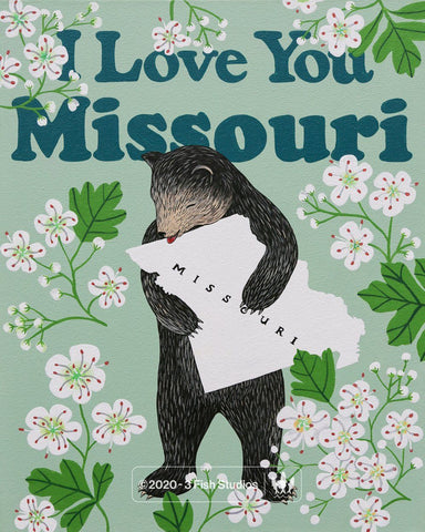 """I Love You Missouri"" Print"