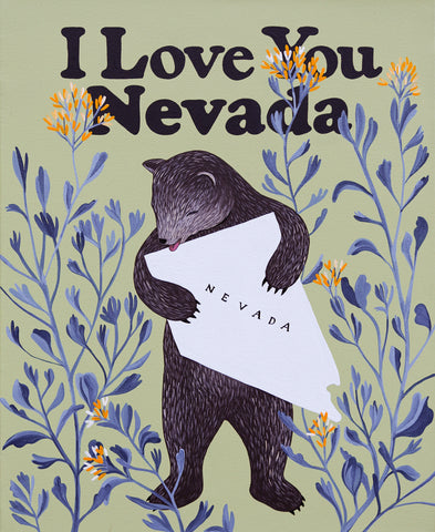 """I Love You Nevada"" Painting"