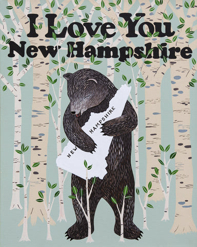 """I Love You New Hampshire"" Print"