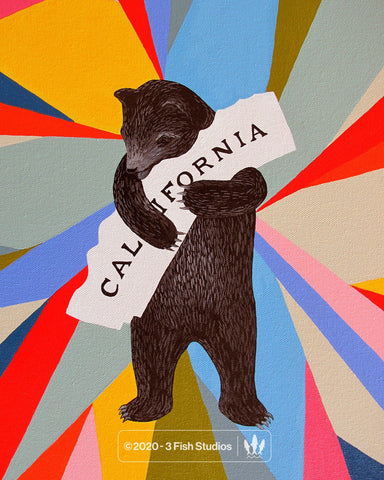 Prism Bear Print by Annie Galvin 3 Fish Studios