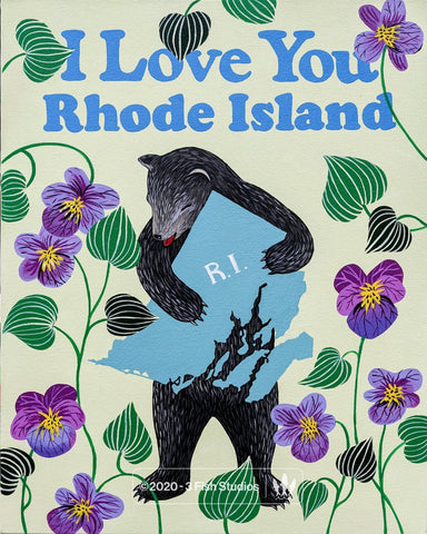 """I Love You Rhode Island"" Print"