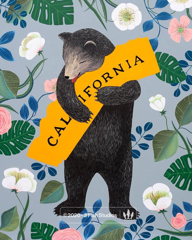 """I Love You California"" Slate Print"