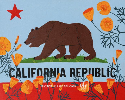 """California Republic"" Print"