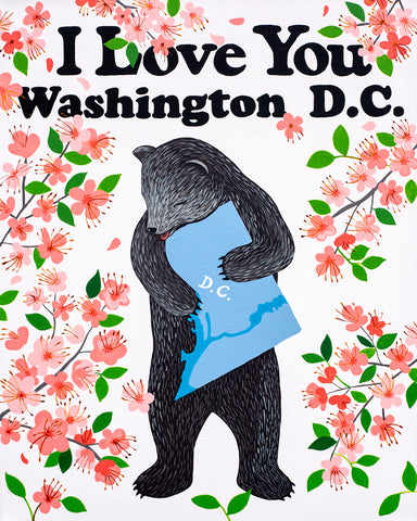 """I Love You Washington D.C."" Print"