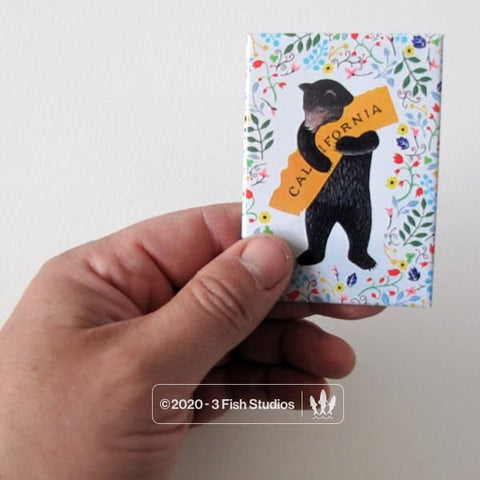 Floral Bear Magnet from 3 Fish Studios