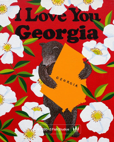 """I Love You Georgia"" Print by Annie Galvin from 3 Fish Studios"